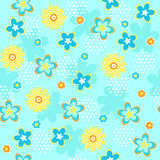 Flowers Seamless Repeat Pattern Royalty Free Stock Images