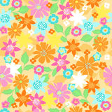 Flowers Seamless Repeat Pattern Vector. Flowers and Leaves Seamless Repeat Pattern Vector Illustration eps Stock Photography