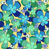 Flowers seamless texture. Stock Images