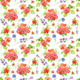 Flowers. Seamless tiled floral wallpaper. Royalty Free Stock Photography