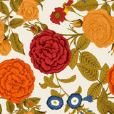 Flowers. Seamless vector background. Flower texture. Floral ornament. The classic pattern. Vintage. Roses. Flowers. Seamless vector background. Flower texture Royalty Free Stock Photo