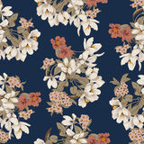 Flowers. Seamless vector background. Flower texture. Floral pattern. Vintage. Classic. Botany. Flowers. Seamless vector background. Flower texture. Floral Stock Photography