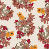Flowers. Seamless vector background. Flower texture. Floral pattern. Vintage. Classic. Botany. Flowers. Seamless vector background. Flower texture. Floral Royalty Free Stock Images