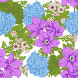 Flowers. Seamless vector background. Flower texture. Floral pattern. Vintage. Classic. Botany. Stock Photos