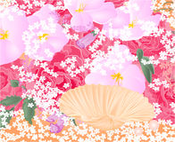 Flowers and seashell vector Royalty Free Stock Photography