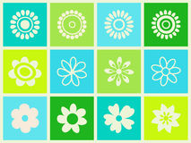 Flowers set. Royalty Free Stock Image