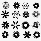 Flowers a set of black and white Royalty Free Stock Photos