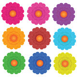 Vector flowers set Stock Image