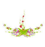 Flowers Set. Grass With Flowers Set, Vector Illustration Royalty Free Stock Image