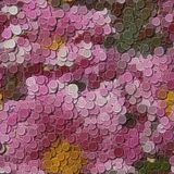 Flowers sewing buttons image generated background Royalty Free Stock Image