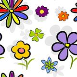 Flowers shadow semless tile Stock Photos