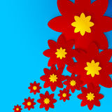 Flowers shadowed background. Abstract vector art illustration, image contains transparency Royalty Free Stock Images