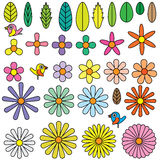 Flowers shape element Stock Images