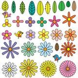 Flowers shape element. Illustration white background flower shape element object Stock Images