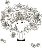 Flowers sheep Stock Photo