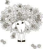 Flowers sheep Stock Photo
