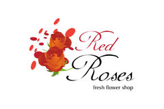 Flowers shop Logo Design Stock Images
