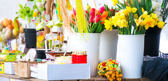 Flowers in shop Royalty Free Stock Images