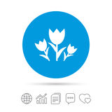 Flowers sign icon. Roses symbol. Royalty Free Stock Image