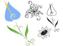 Flowers sketch Royalty Free Stock Photos