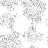 Flowers sketch pattern Royalty Free Stock Photos