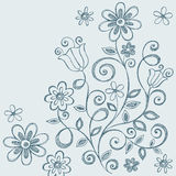 Flowers Sketchy Notebook Doodles Royalty Free Stock Image