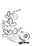 Flowers and snail. Sketch. Flowering plant and a snail Stock Images
