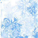 Flowers & snowflakes Royalty Free Stock Images