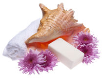Flowers and Soap Spa Image Stock Images