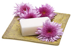 Flowers and Soap Spa Image Royalty Free Stock Image