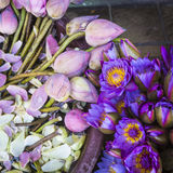 Flowers sold to be used as offerings in front of the Temple of t Stock Photography