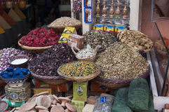 Flowers Spices on the street Stock Images