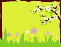 Flowers in spring stock illustration