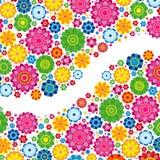 Flowers spring design on a white  background, floral. Vector illustration Stock Image