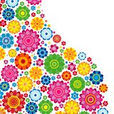 Flowers spring design on a white background, floral vector. Flowers spring design on a white  background, floral vector illustration Stock Photography