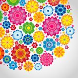 Flowers spring design on a white  background, floral vector. Illustration Royalty Free Stock Images