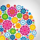 Flowers spring design on a white  background, floral vector. Illustration Stock Photo