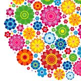 Flowers spring design on a white  background, floral vector illustration