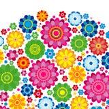 Flowers spring design on a white  background, floral stock illustration