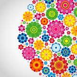 Flowers spring design on a white  background, floral. Vector illustration Stock Images