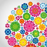 Flowers spring design on a white  background, floral vector. Illustration Royalty Free Stock Image