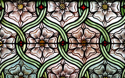 Flowers in stained glass Stock Images