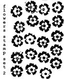 Flowers stamps Stock Photos