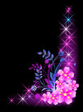 Flowers and stars Royalty Free Stock Photography