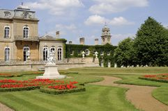 Flowers and statues decorating wrest park Royalty Free Stock Photography