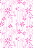Flowers and stems repeat pattern. Vector illustration of a floral repeat pattern Royalty Free Stock Photos