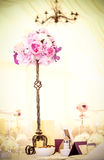 Flowers on a stick. Floral arrangement, that can be used for decorating tables at the wedding Royalty Free Stock Photo