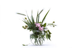 Flowers still life. Bunch of flowers still life on white royalty free stock images