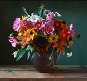 Flowers. Still life with autumn flowers Stock Photography