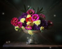 Flowers. Still life with flowers in a vase Stock Photo